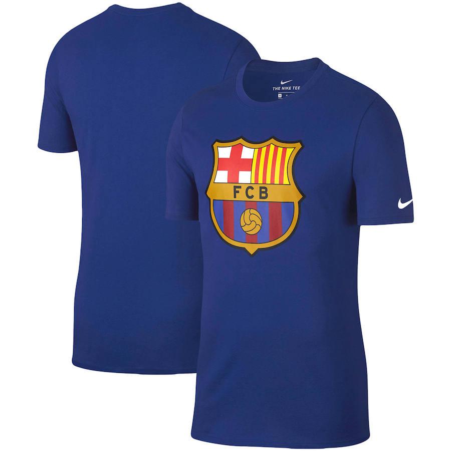 Barcelona Nike Team Crest Performance T-Shirt Royal