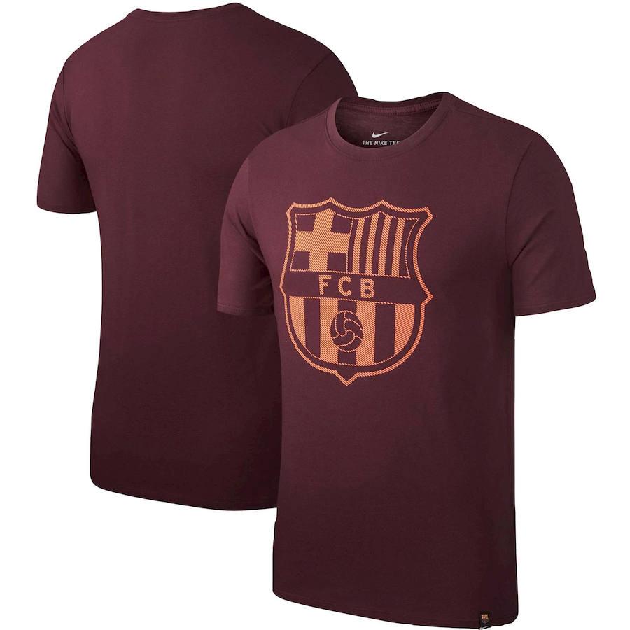 Barcelona Nike Team Crest T-Shirt Maroon