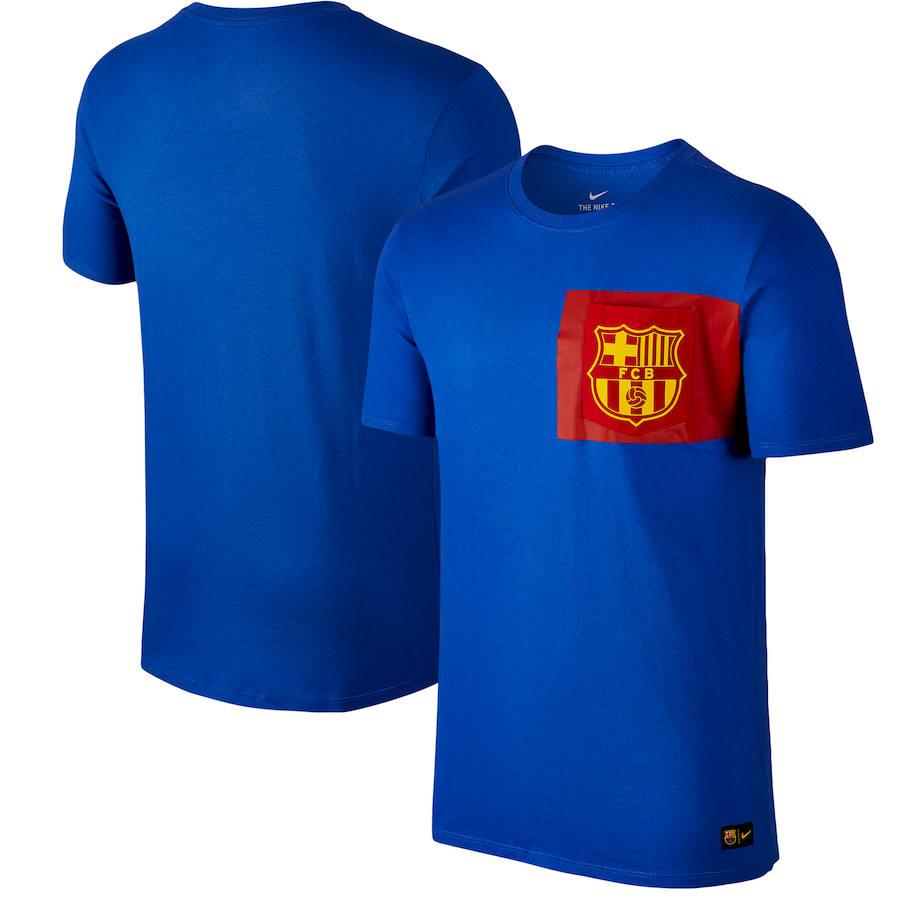 Barcelona Nike Team Crest T-Shirt Royal