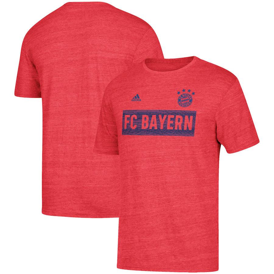 Bayern Munich adidas Bar None Tri-Blend T-Shirt Heathered Red