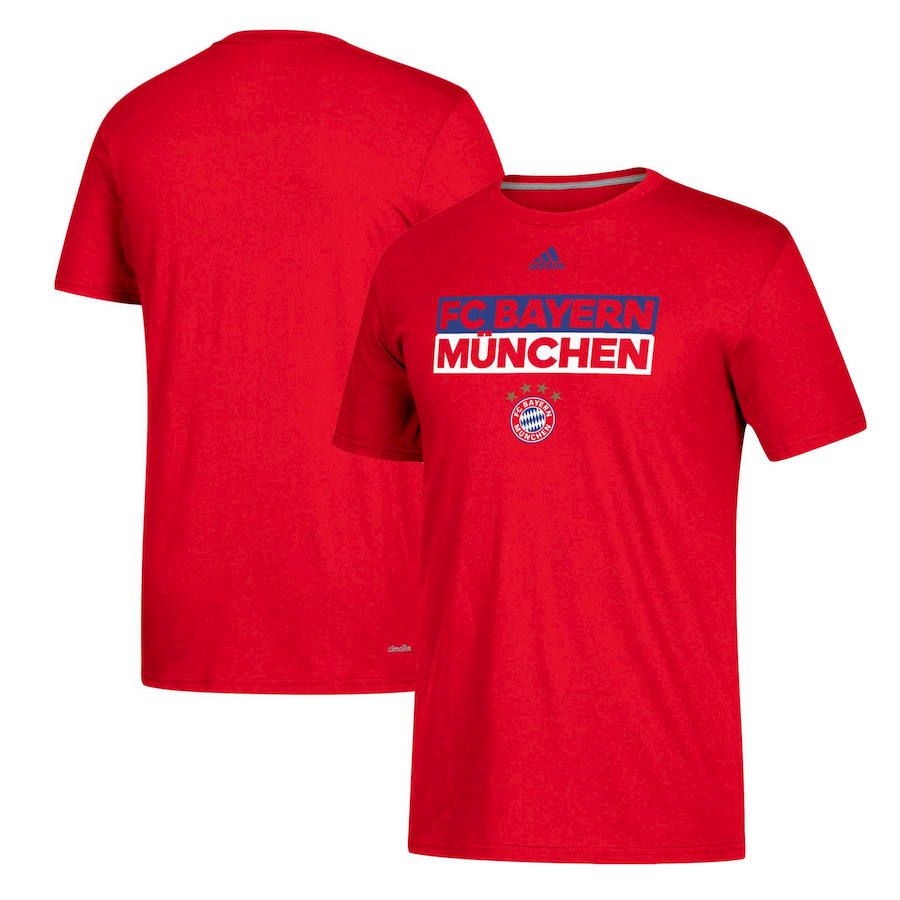 Bayern Munich adidas Box Go-To Performance T-Shirt Red