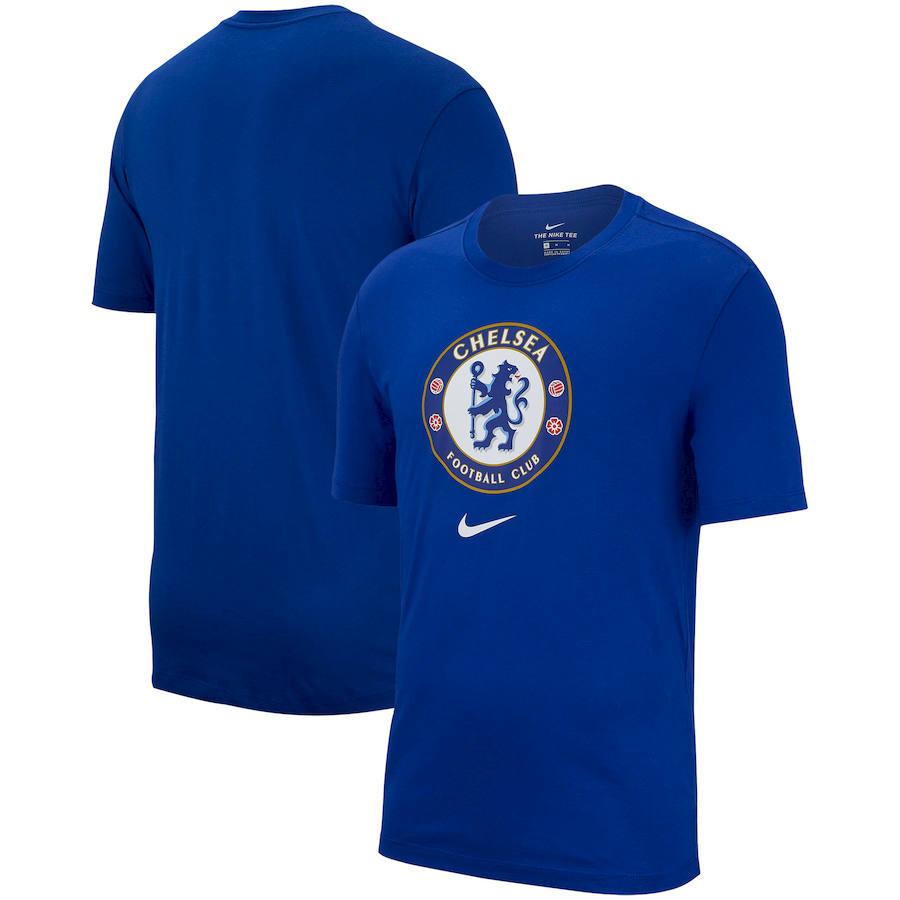 Chelsea Nike Evergreen Crest T-Shirt Blue