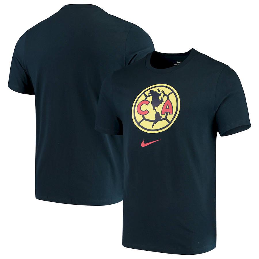 Club America Nike Evergreen Crest T-Shirt Navy