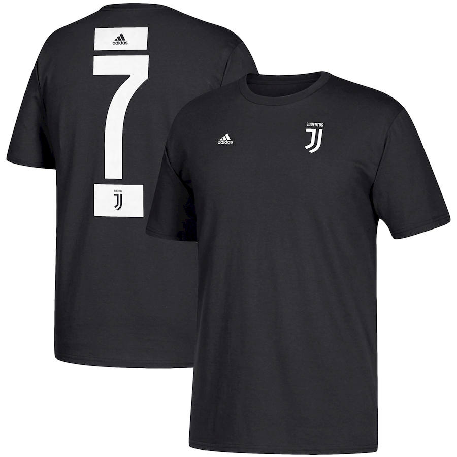 Juventus #7 Cristiano Ronaldo adidas Go-To Name & Number T-Shirt Black
