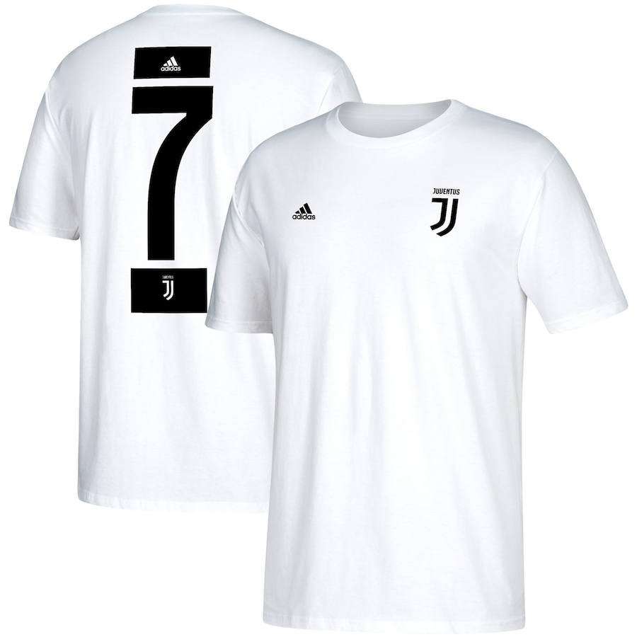 Juventus #7 Cristiano Ronaldo adidas Go-To Name & Number T-Shirt White