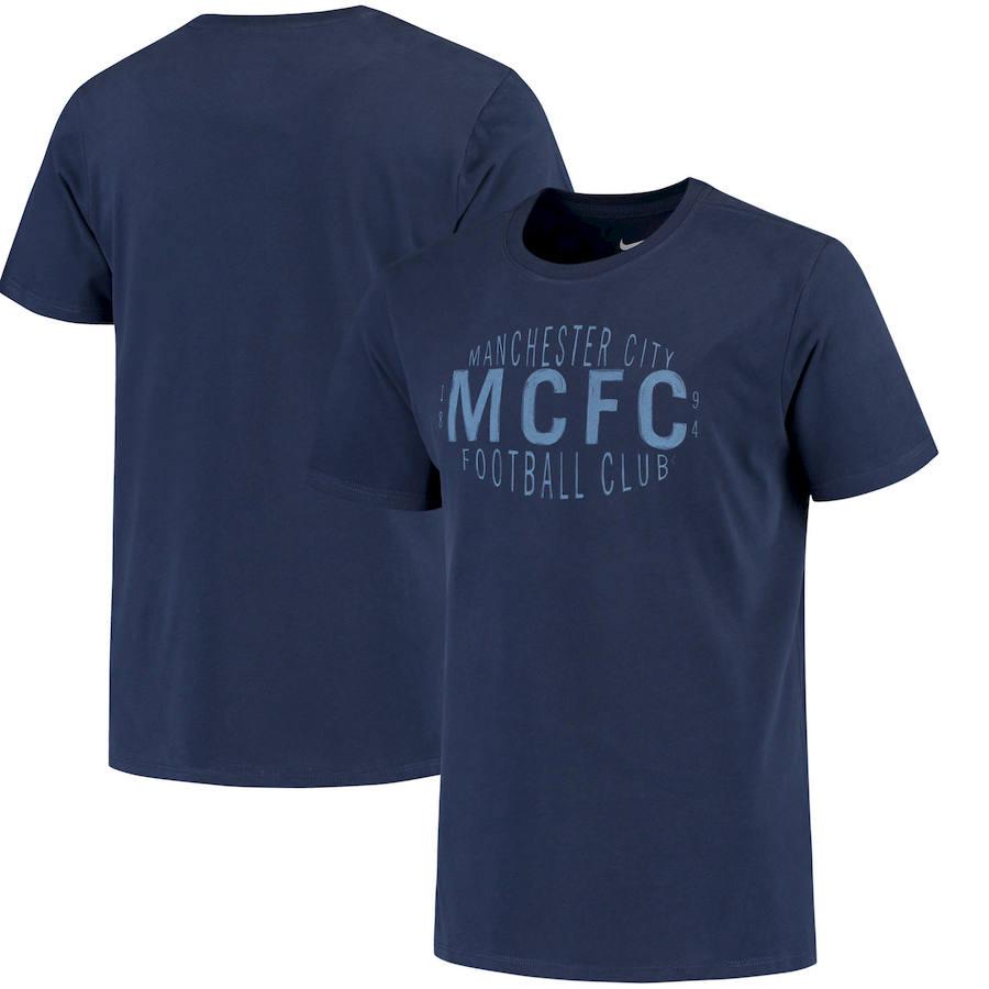 Manchester City Nike Fan Squad T-Shirt Navy