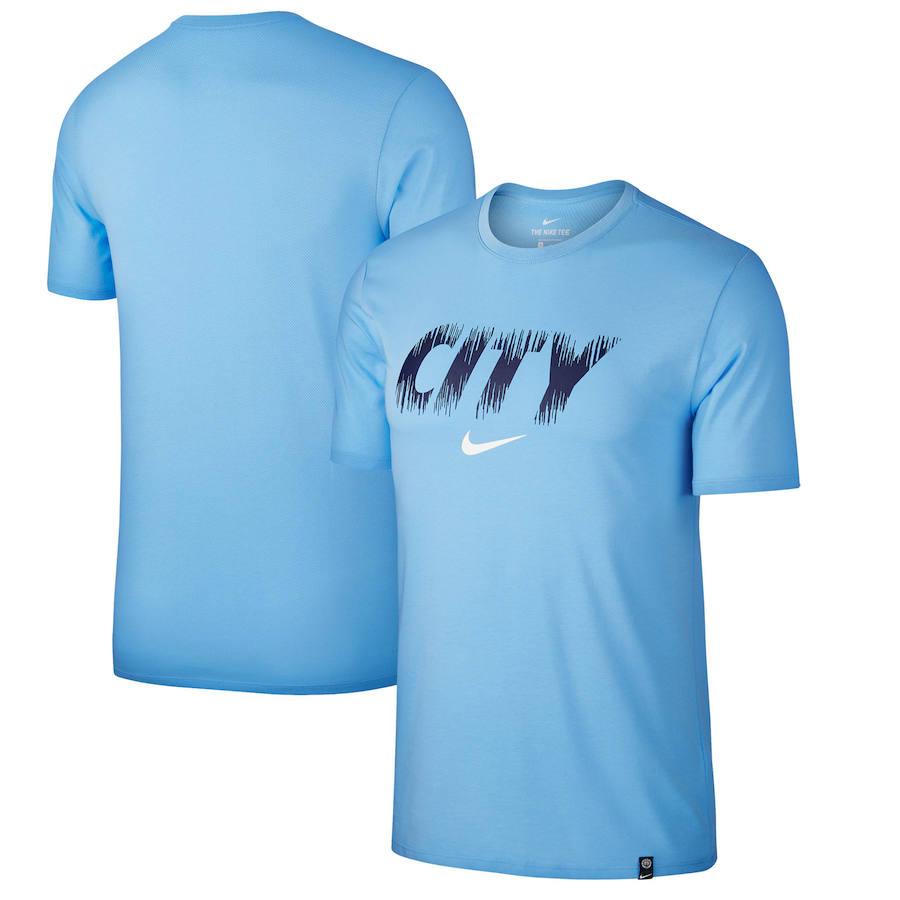 Manchester City Nike Preseason Performance T-Shirt Light Blue