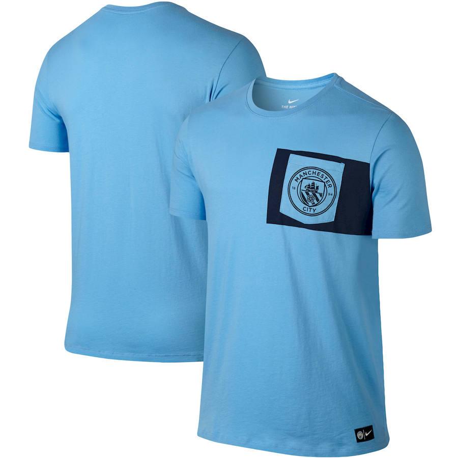 Manchester City Nike Team Crest T-Shirt Blue