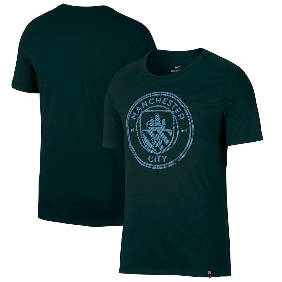 Manchester City Nike Team Crest T-Shirt Green