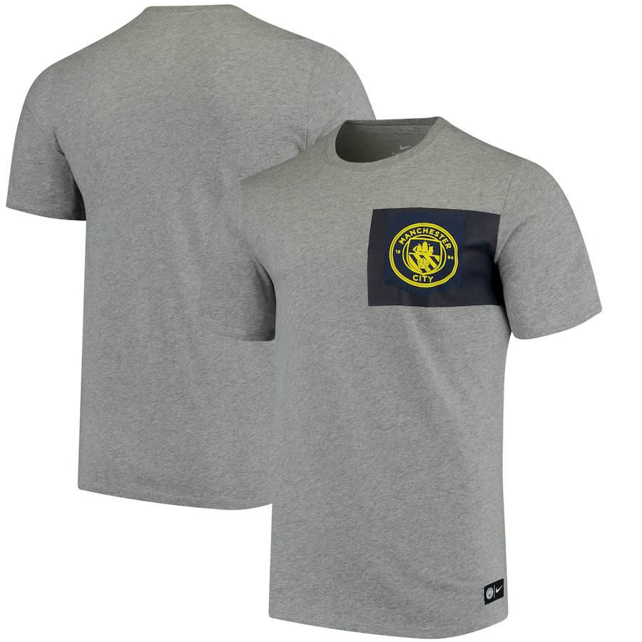 Manchester City Nike Team Crest T-Shirt Heathered Gray
