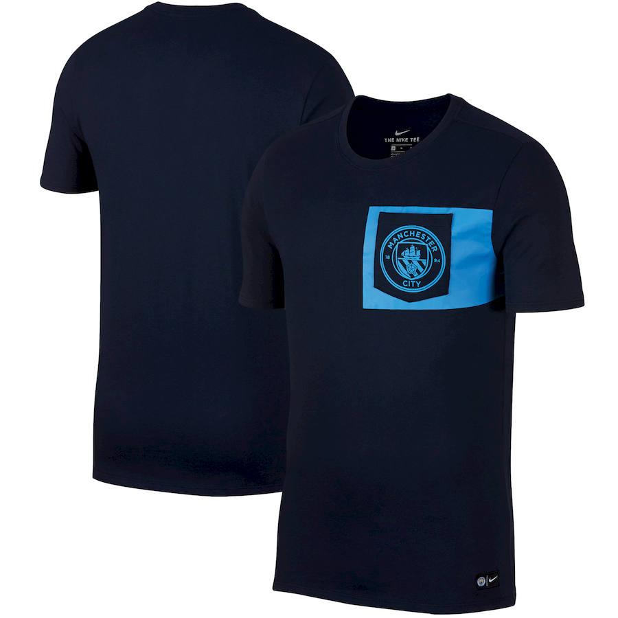 Manchester City Nike Team Crest T-Shirt Navy