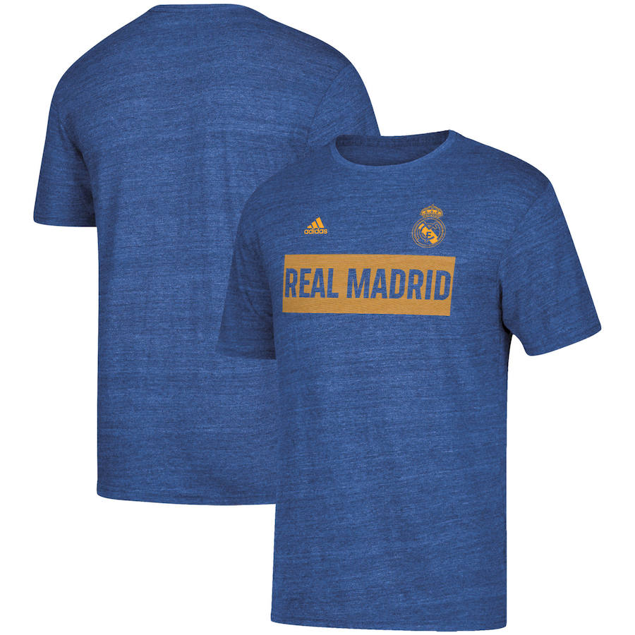 Real Madrid adidas Bar None Tri-Blend T-Shirt Heathered Blue