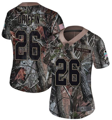 Nike Seahawks #26 Shaquem Griffin Camo Women's Stitched NFL Limited Rush Realtree Jersey