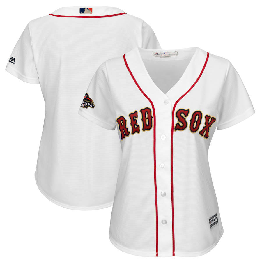 Boston Red Sox Majestic Women's 2019 Gold Program Cool Base Team Jersey White