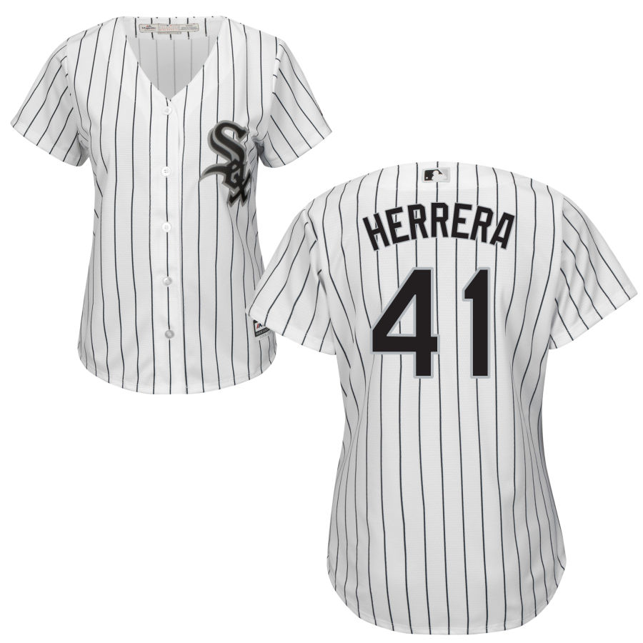 White Sox #41 Kelvin Herrera Women's Cool Base White Stitched MLB Jersey