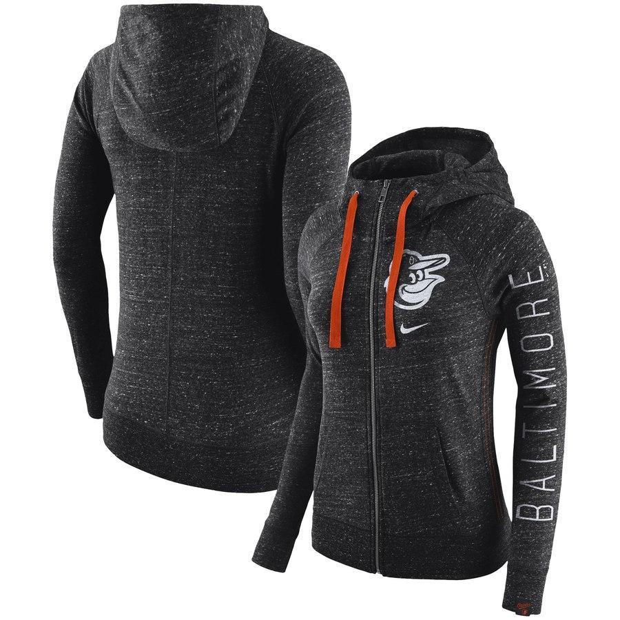 Baltimore Orioles Nike Women's Vintage Full-Zip Hoodie Black