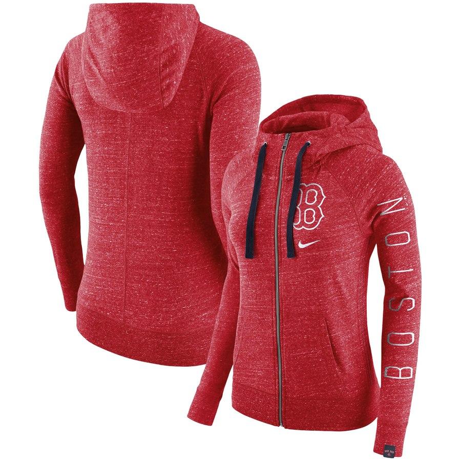 Boston Red Sox Nike Women's Vintage Full-Zip Hoodie Red