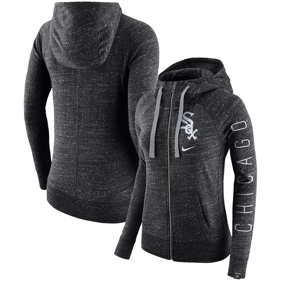 Chicago White Sox Nike Women's Vintage Full-Zip Hoodie Black