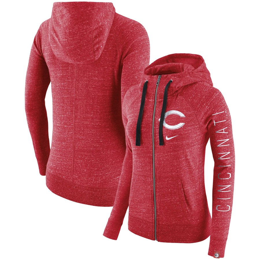 Cincinnati Reds Nike Women's Vintage Full-Zip Hoodie Red