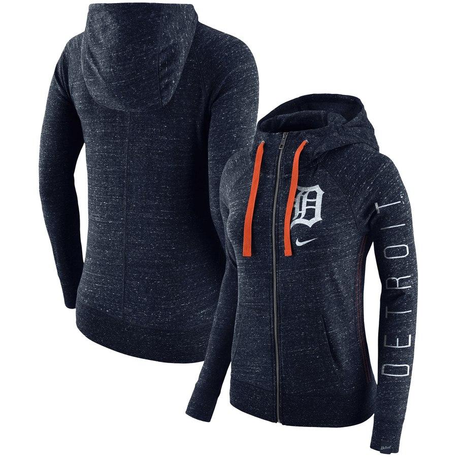 Detroit Tigers Nike Women's Vintage Full-Zip Hoodie Navy