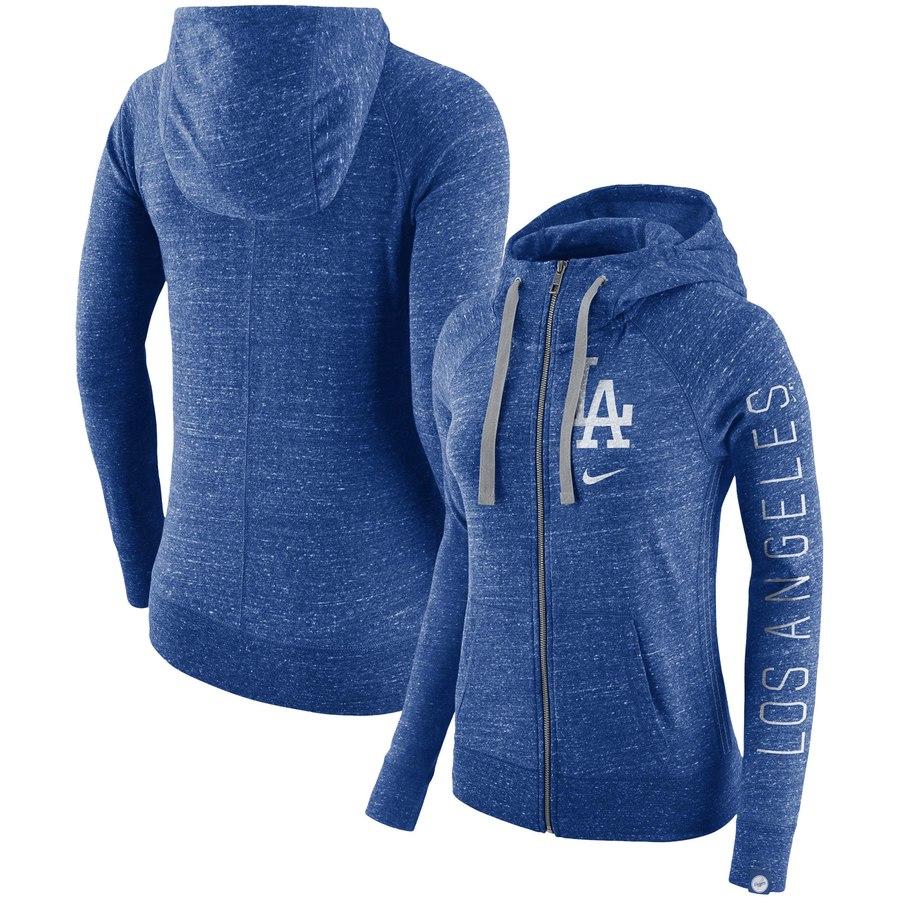 Los Angeles Dodgers Nike Women's Vintage Full-Zip Hoodie Royal