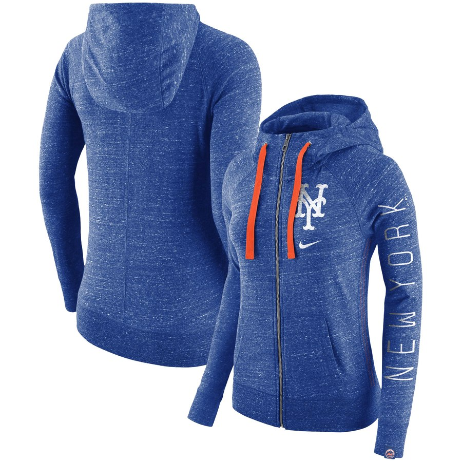 New York Mets Nike Women's Vintage Full-Zip Hoodie Royal