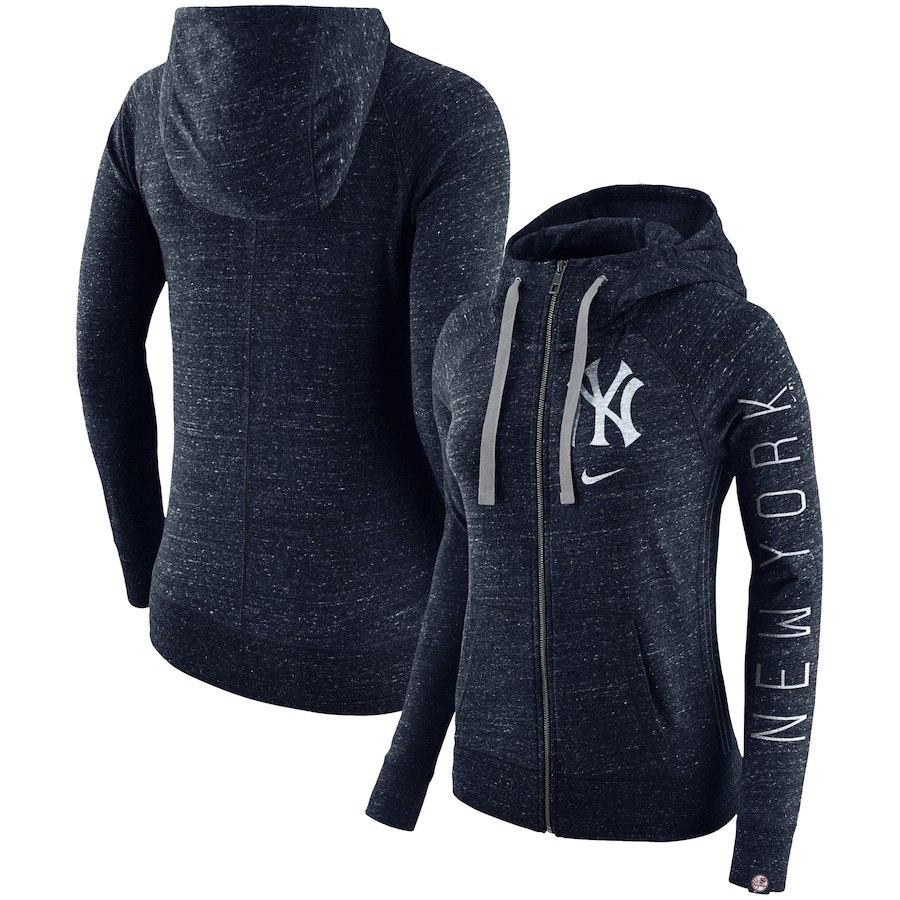 New York Yankees Nike Women's Vintage Full-Zip Hoodie Navy