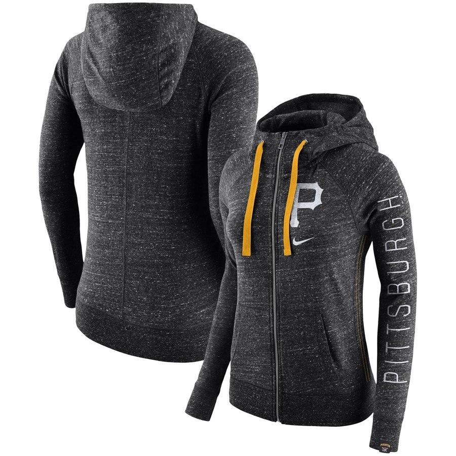 Pittsburgh Pirates Nike Women's Vintage Full-Zip Hoodie Black