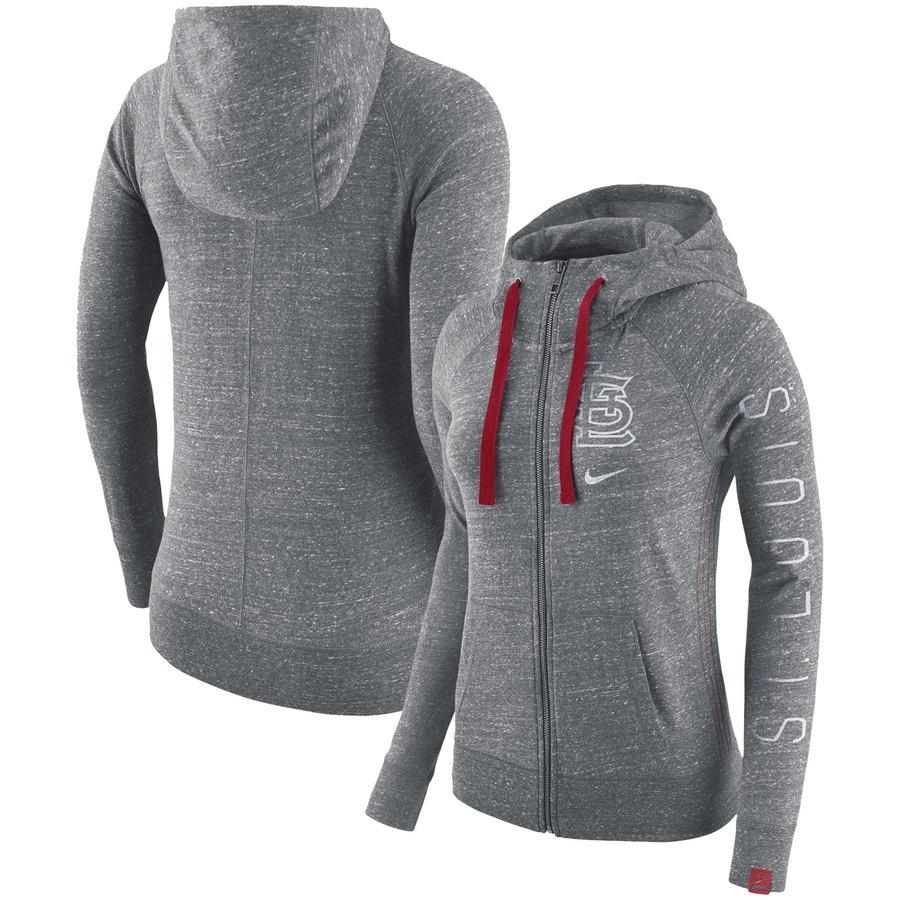 St. Louis Cardinals Nike Women's Vintage Full-Zip Hoodie Gray