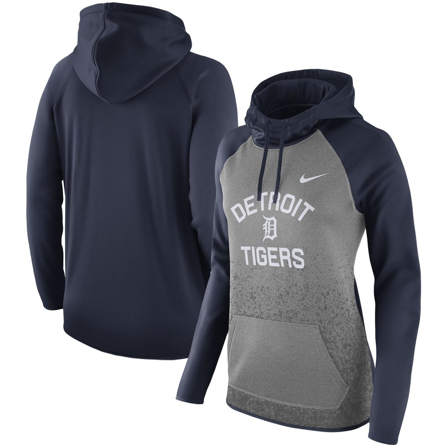 Detroit Tigers Nike Women's All-Time Therma Performance Pullover Hoodie Dark Gray