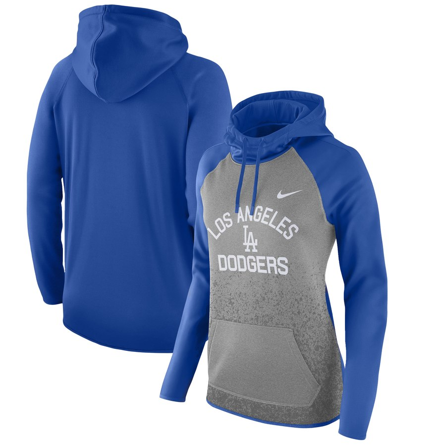 Los Angeles Dodgers Nike Women's All-Time Therma Performance Pullover Hoodie Dark Gray