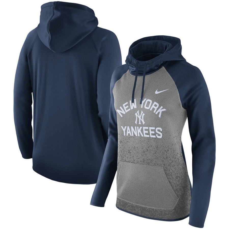 New York Yankees Nike Women's All-Time Therma Performance Pullover Hoodie Dark Gray