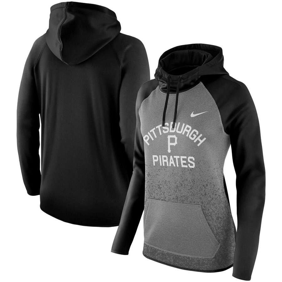 Pittsburgh Pirates Nike Women's All-Time Therma Performance Pullover Hoodie Dark Gray