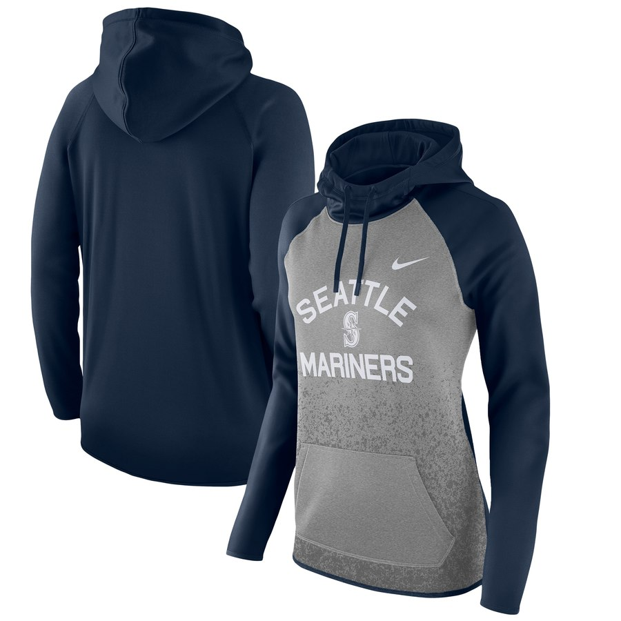 Seattle Mariners Nike Women's All-Time Therma Performance Pullover Hoodie Dark Gray
