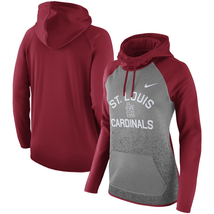 St. Louis Cardinals Nike Women's All-Time Therma Performance Pullover Hoodie Dark Gray