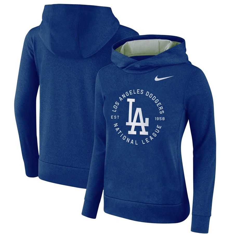 Los Angeles Dodgers Nike Women's Therma Pullover Hoodie Royal