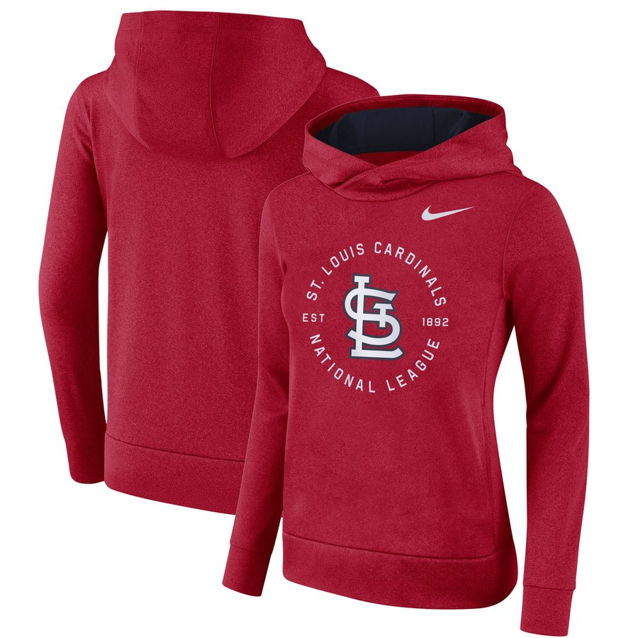 St. Louis Cardinals Nike Women's Therma Pullover Hoodie Red