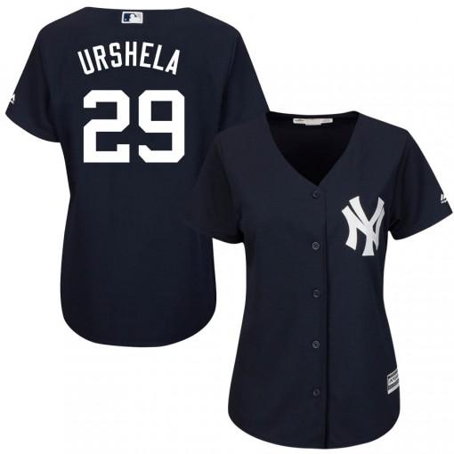 Yankees #29 Gio Urshela Navy Blue Alternate Women's Stitched MLB Jersey
