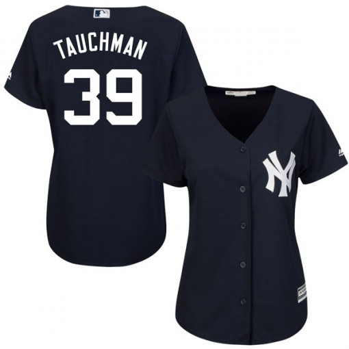 Yankees #39 Mike Tauchman Navy Blue Alternate Women's Stitched MLB Jersey
