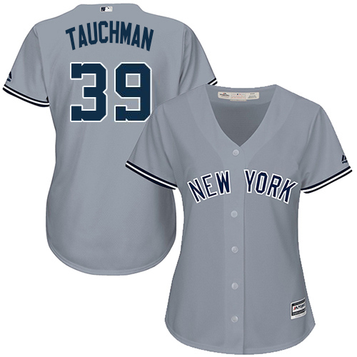 Yankees #39 Mike Tauchman Grey Road Women's Stitched MLB Jersey