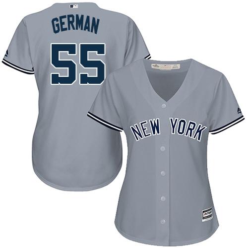 Yankees #55 Domingo German Grey Road Women's Stitched MLB Jersey