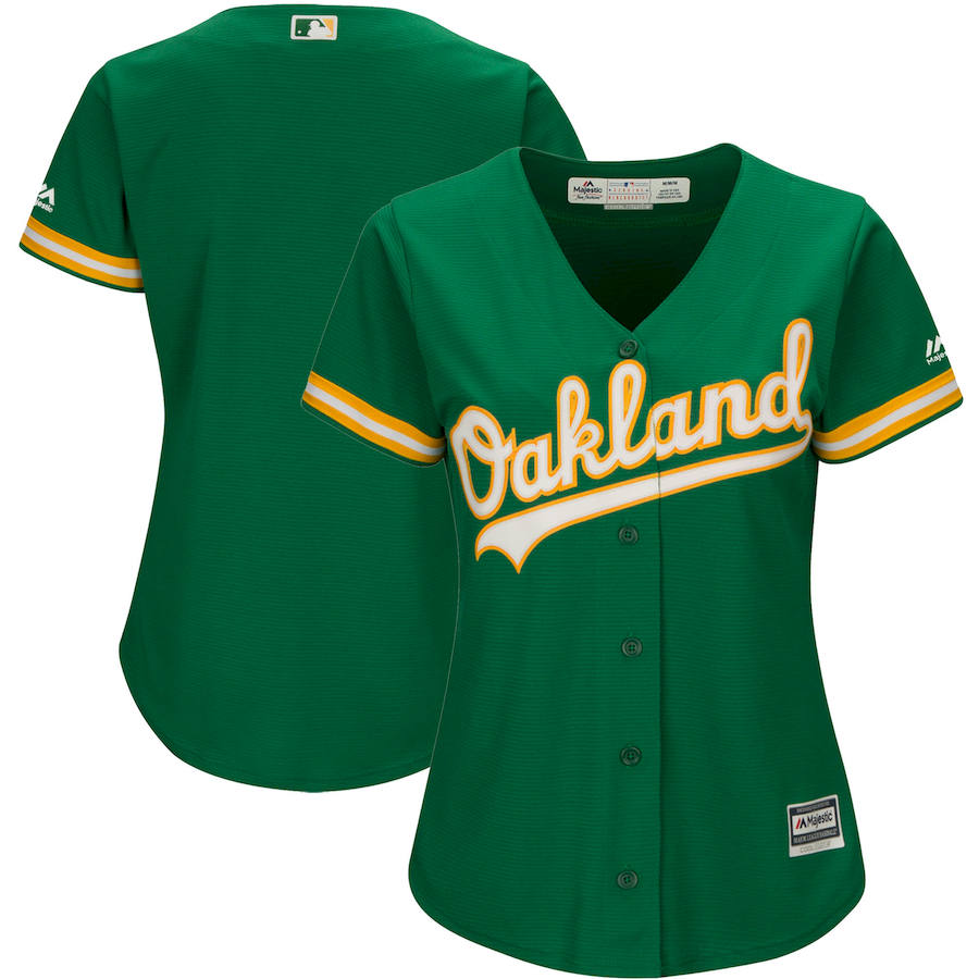 Oakland Athletics Majestic Women's Alternate Cool Base Team Jersey Green