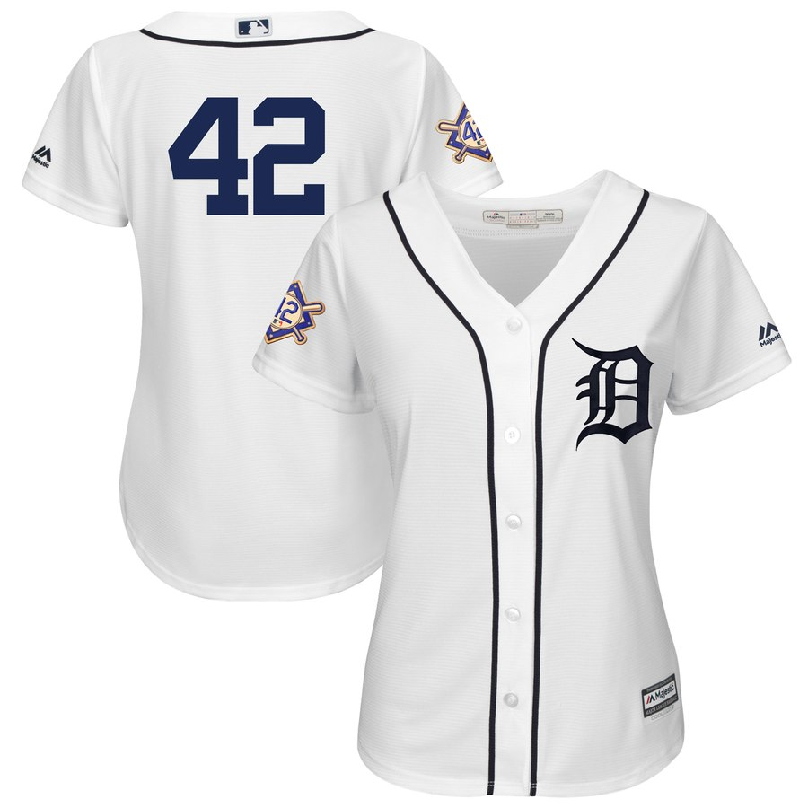 San Diego Padres #42 Majestic Women's 2019 Jackie Robinson Day Official Cool Base Jersey White