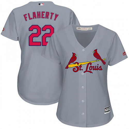 Cardinals #22 Jack Flaherty Grey Road Women's Stitched MLB Jersey