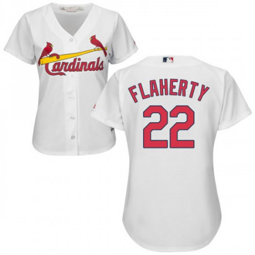 Cardinals #22 Jack Flaherty White Home Women's Stitched MLB Jersey