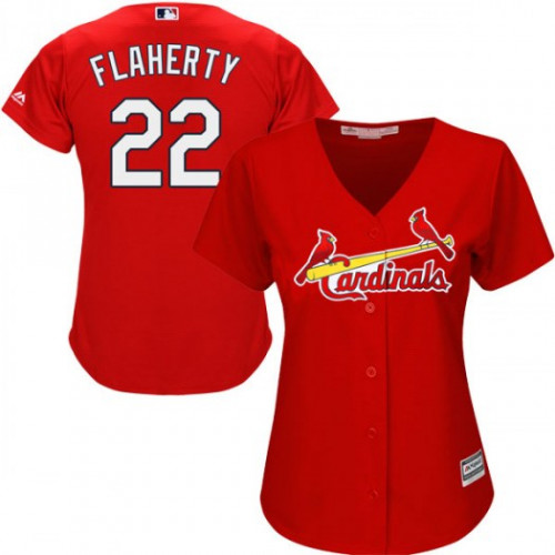 Cardinals #22 Jack Flaherty Red Alternate Women's Stitched MLB Jersey