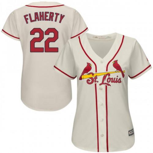 Cardinals #22 Jack Flaherty Cream Alternate Women's Stitched MLB Jersey