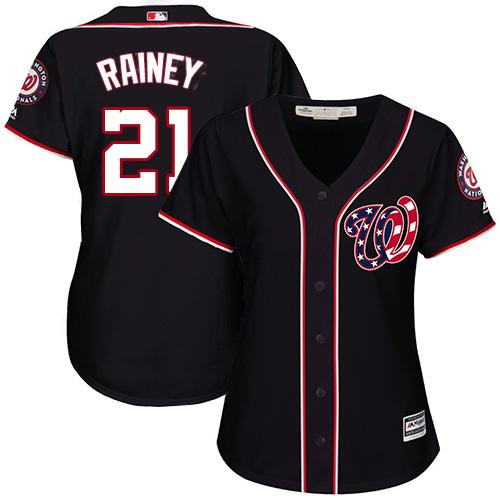 Nationals #21 Tanner Rainey Navy Blue Alternate Women's Stitched MLB Jersey