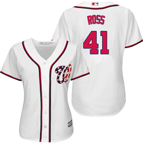 Nationals #41 Joe Ross White Home Women's Stitched MLB Jersey