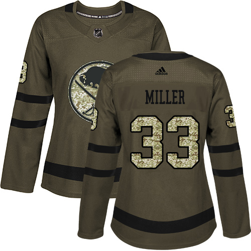 Adidas Sabres #33 Colin Miller Green Salute to Service Women's Stitched NHL Jersey